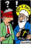 Anti-atheism, Christian cartoons